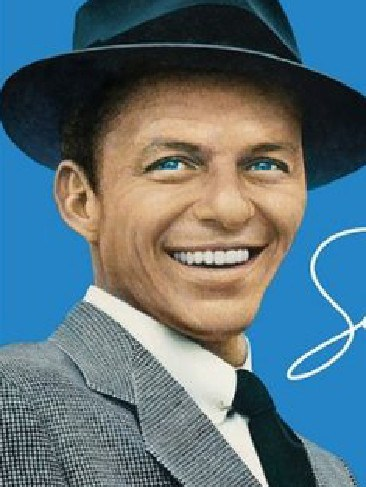 Ronan and Frank Sinatra (pictured) both have striking blue eyes and similar facial features.