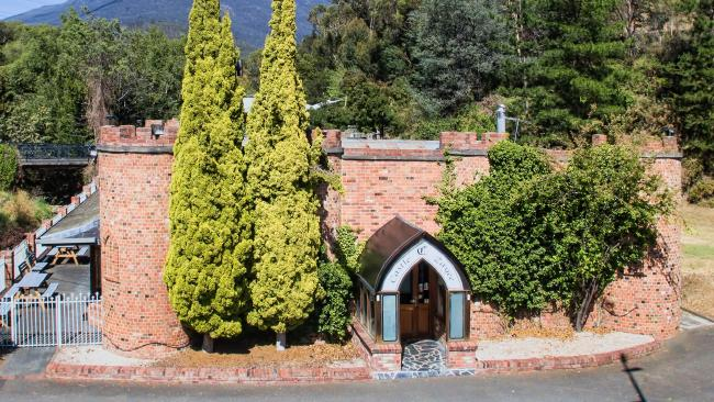 A castle for sale in Tasmania's Lenah Valley.