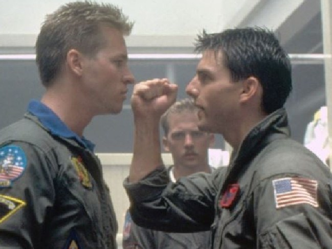 The rivalry between Tom Cruise and Val Kilmer in Top Gun has taken on a whole new meaning. Picture: Supplied