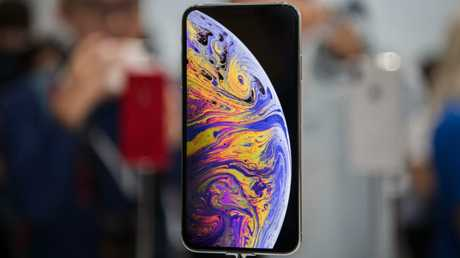 The Apple iPhone XS on display inside the Steve Jobs Theater in Apple Park, Cupertino. Picture: Jennifer Dudley-Nicholson