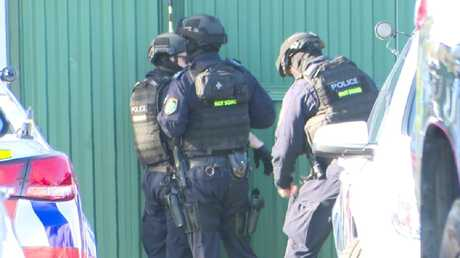 Police have surrounded the western Sydney clubhouse of an outlaw bikie gang. Picture: TNV