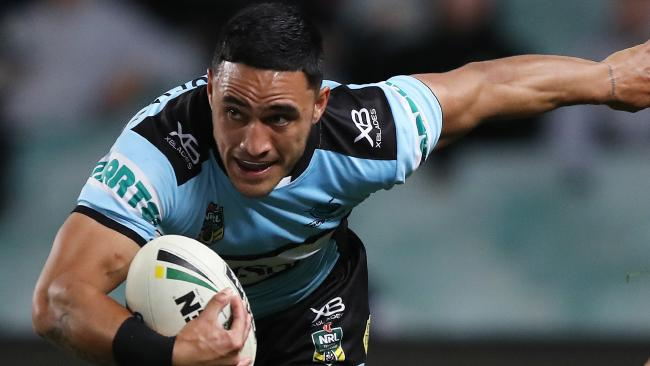 Valentine Holmes will be key for the Sharks when they take on the Storm. Picture: Brett Costello