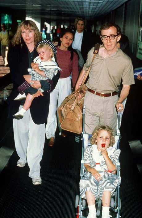 Actress Mia Farrow and Director Woody Allen with their family. The pair were together for 12 years.