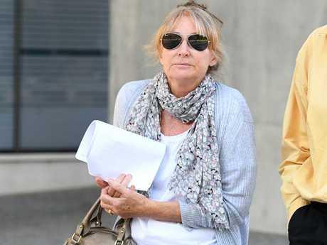 Lynette Lucas, the sister of Jennifer Morant, leaves the Supreme Court. Picture: Dan Peled