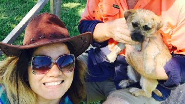 Malanda resident Che-che Zimmerman with puppy Bumbles. PHOTO: Supplied.