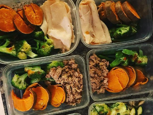 Kate Parry used to eat Chinese takeaway for lunch four or five times a week and at her heaviest. Now she eats lots of fresh food and meal preps.