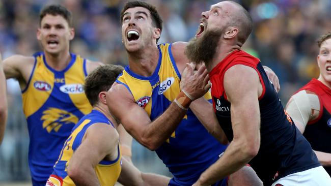 Scott Lycett could be on his way out of the Eagles. Picture: AAP Images