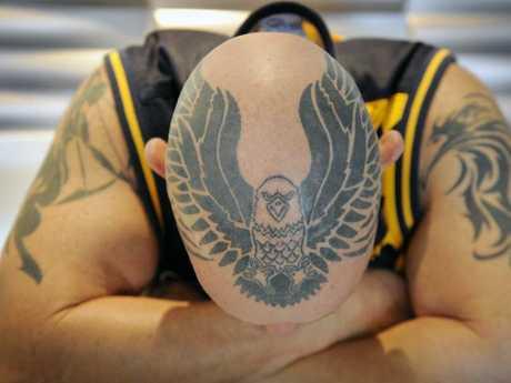 James Clark-Smith remarkable Eagles head tattoo.