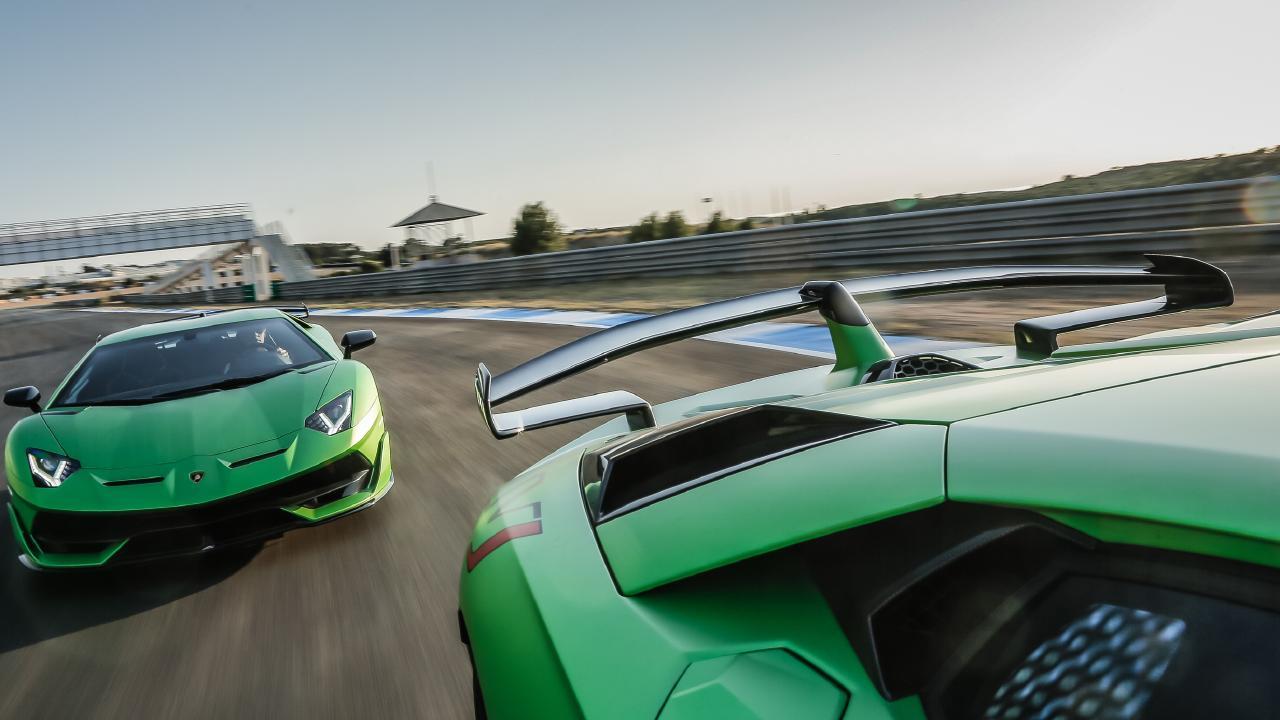 ALA: The Lamborghini's rear wing is an aerodynamic masterpiece.