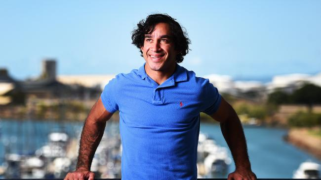 Retired North Queensland Cowboys player Johnathan Thurston ahead of his speaking tour around Australia. Picture: Zak Simmonds
