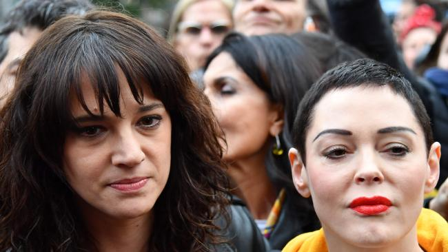Asia Argento (L) and Rose McGowan are in the midst of a bitter feud. Picture: AFP