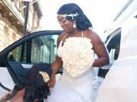 Sandra Igwe spent $128,000 having five weddings and wore 13 dresses