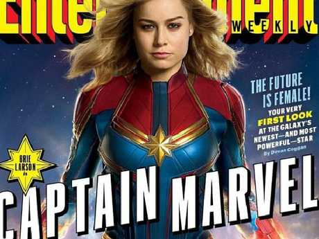 Brie Larson as Captain Marvel in Entertainment Weekly. Picture: EW