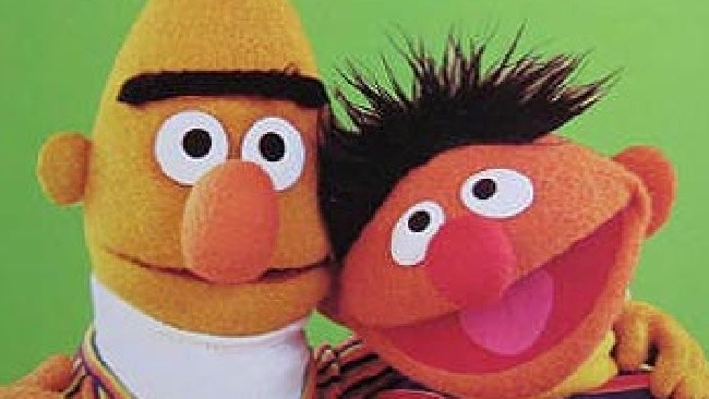 Bert and Ernie were written as a gay couple. Picture: Supplied