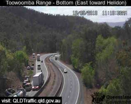 Emergency services on scene of single-vehicle crash on the Toowoomba Range.