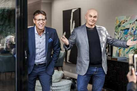 Andrew Winter and Neale Whitaker in a scene from season two of Love It or List It Australia.