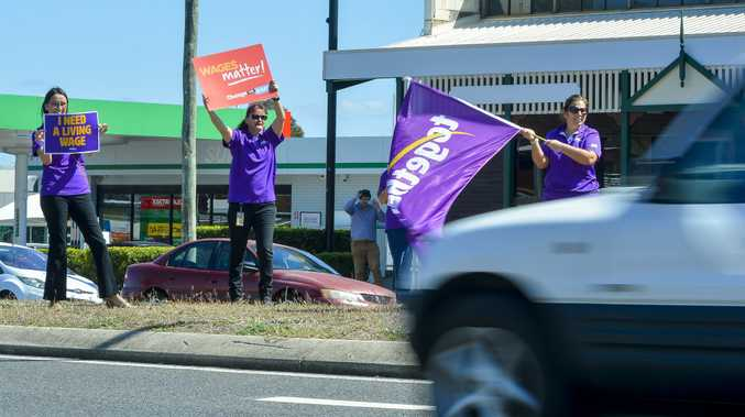 WATCH THE PROTEST: Child safety workers striking
