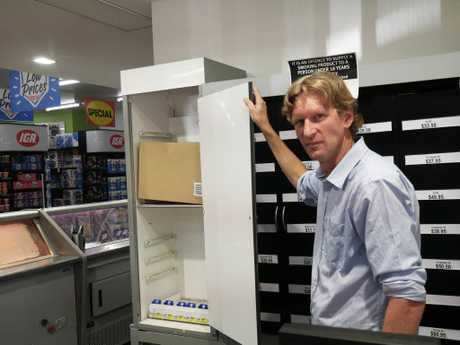 IGA Hervey Bay Airport owner Stephen Anderson was disappointed after the store was broken into in the early hours of September 19. About $10,000 worth of cigarettes was stolen.