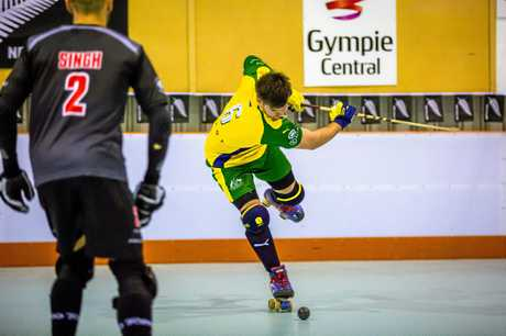 Roller Hockey Senior Men Australia vs New Zealand - Bevan Hurley Australia