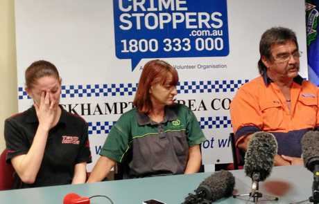 DESPERATE PLEA: Robert Martinez's girlfriend Melissa McKenzie and Chantal Barnett's parents Natalie and Glen Barnett tell the media they just want the missing Rockhampton pair back so they can have some closure. Photo Austin King / The Morning Bulletin