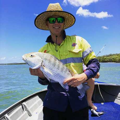 Jai Volker's 65cm (3.1kg) Grunter caught up at Grahams creek.