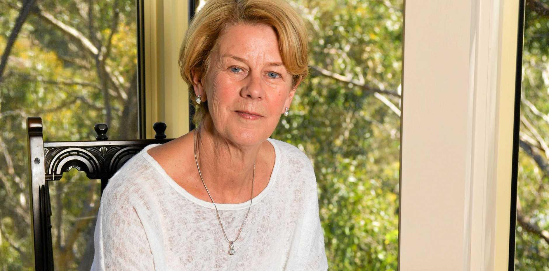 Barbara Spriggs inside her Adelaide Hills home.