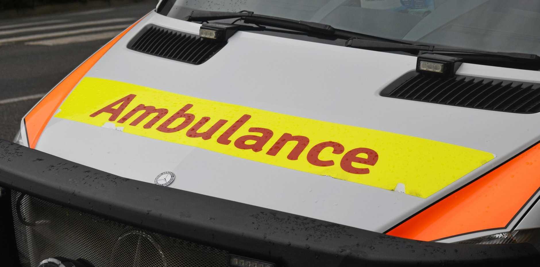Paramedics attended a traffic crash near Dysart involving a man in his 30s.