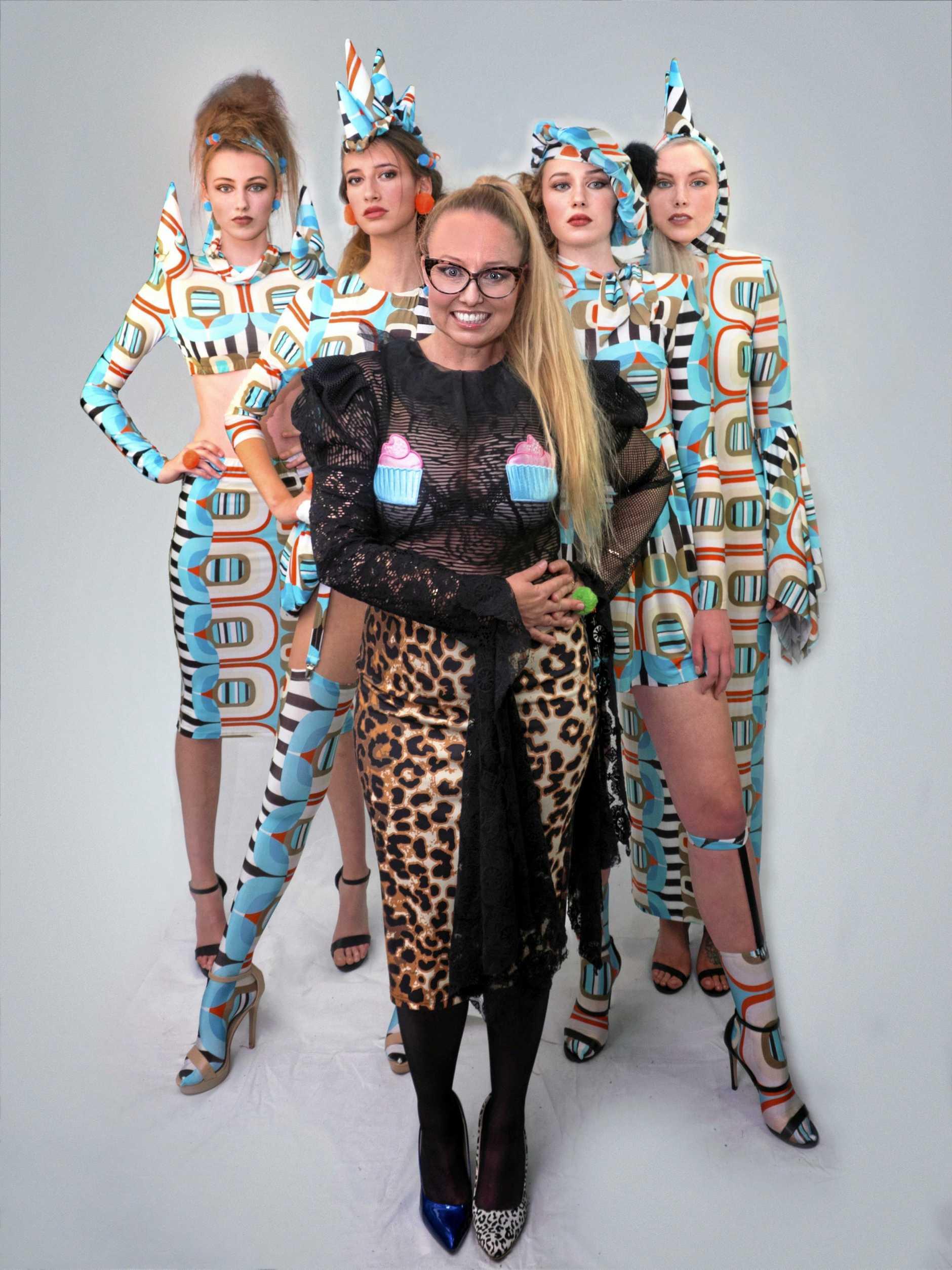 Cindy Vogels with models