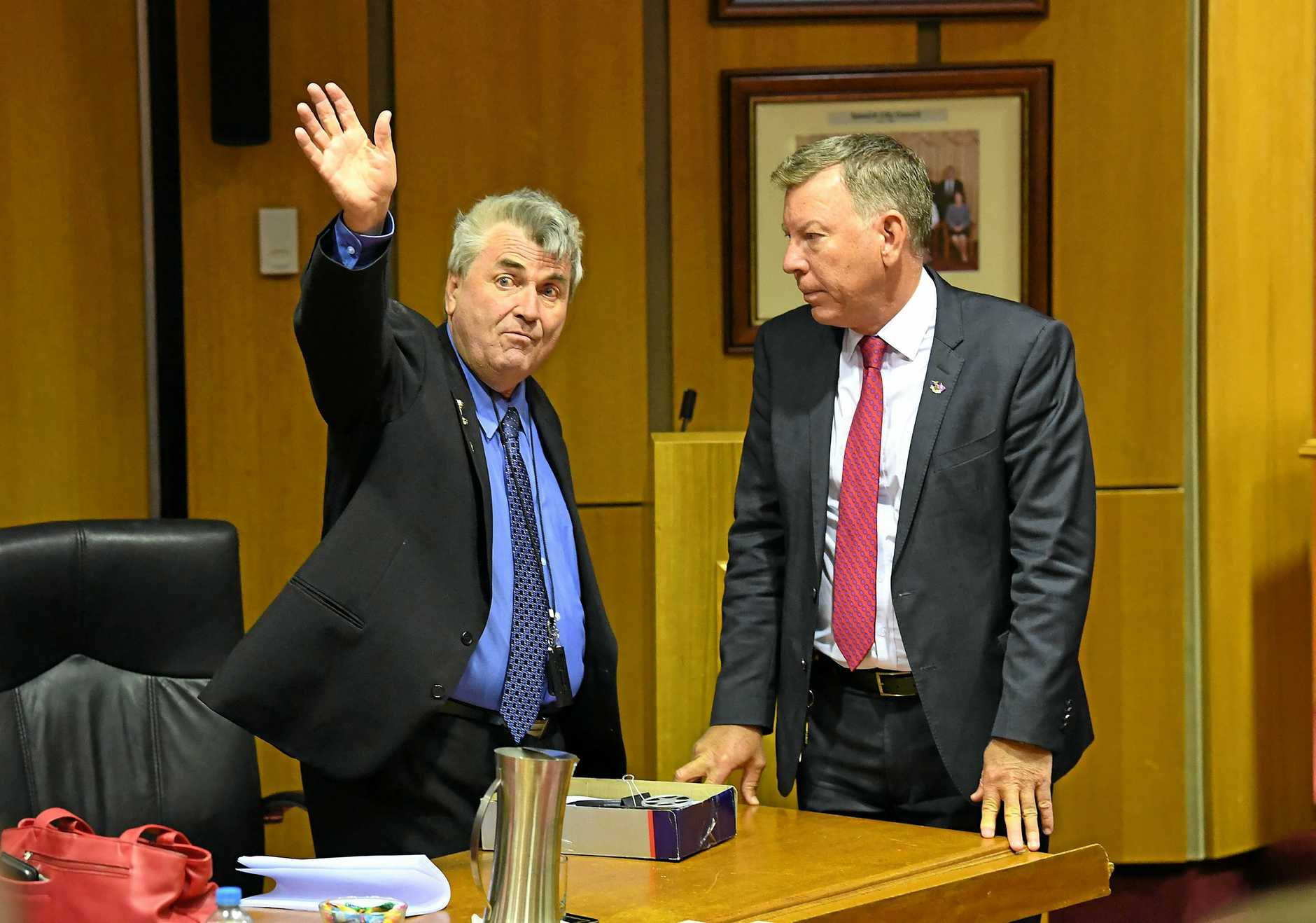 SCATHING: Former councillor David Pahlke (left) has written to the people involved in his dismissal.