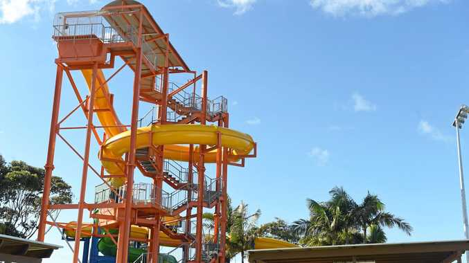 The waterslides at Ballina will be open this weekend.
