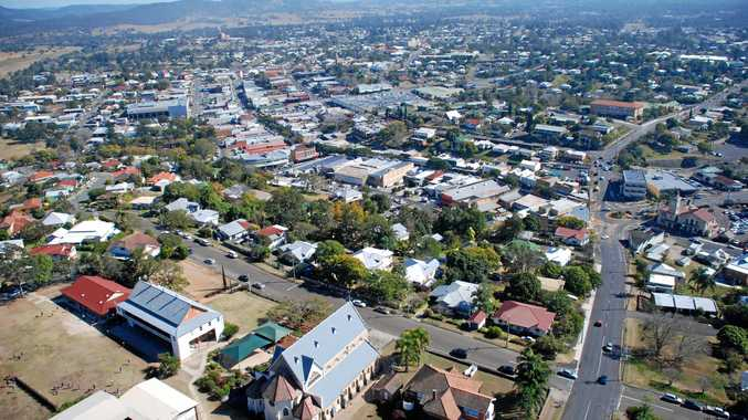 An aerial of Gympie