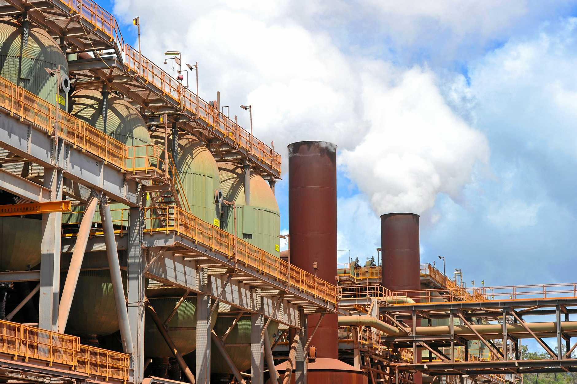 The mining giant's first quarter report showed Yarwun produced 813,000 of alumina during the first three months of the year.