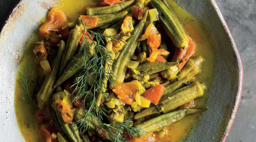 Peter Kuruvita's Afghan okra stew. Images and recipes from Lands of the Curry Leaf by Peter Kuruvita, Murdoch Books, RRP $49.99 Photography by Alan Benson.