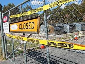 Dump won't accept asbestos material