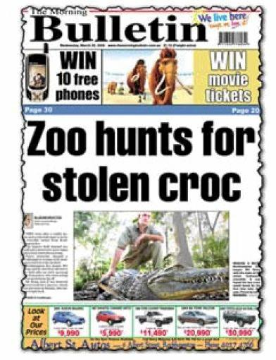 STOLEN CROC: Missy the saltwater croc was stolen from Rockhampton Zoo in 2006. Speculation is rife that the croc spotted at the Mount Morgan dam is Missy.