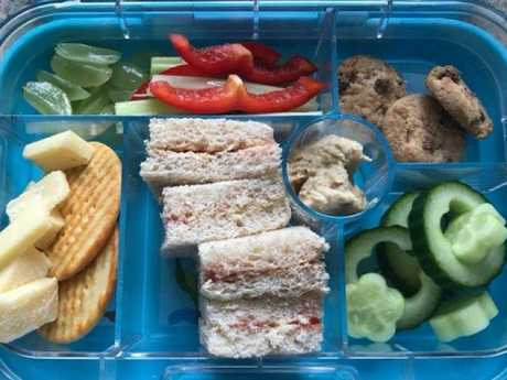 Can you see why this lunch was deemed 'too unhealthy'? Picture: Laura Lee/Facebook