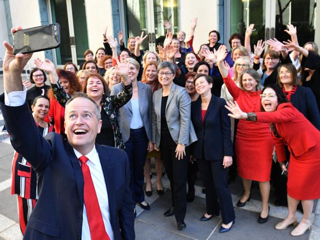 Opposition Leader Bill Shorten is focusing on women. Picture: Mick Tsikas/AAP