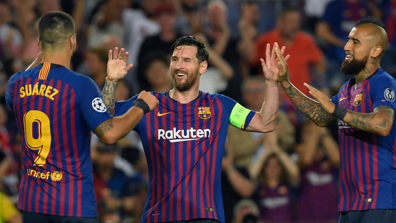 Another Lionel Messi masterclass highlighted Barcelona's Champions League win over PSV. Picture: AFP