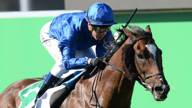 Folkswood, with Kerrin McEvoy in the saddle, takes out last year's Cranbourne Cup. Picture: Mal Fairclough/AAP