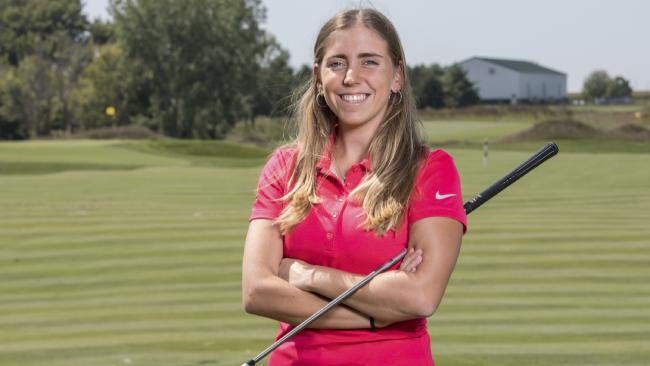 Rising golf star, Celia Barquin Arozamena, has been found dead on a course in Iowa. Picture: AP