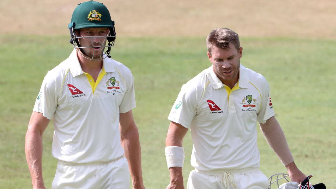 Openers Cameron Bancroft and David Warner were suspended by Cricket Australia for their roles in the Cape Town ball-tampering scandal. Picture: Mike Hutchings