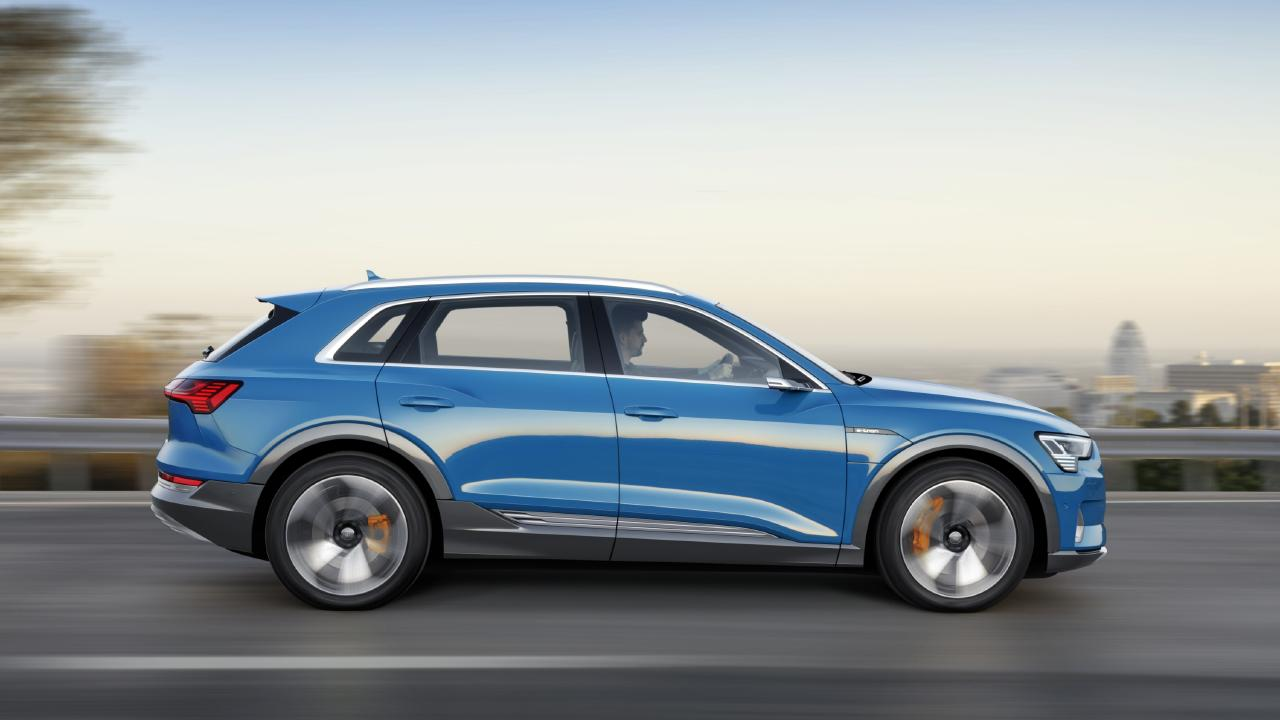 The Audi e-tron appears much like any other of the German brand's SUVs.
