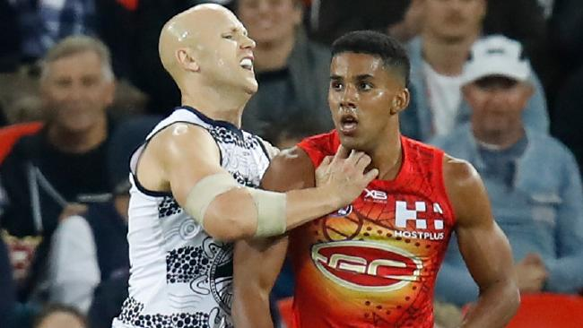 Gary Ablett had the ball on a string against the Suns. Picture: Getty Images