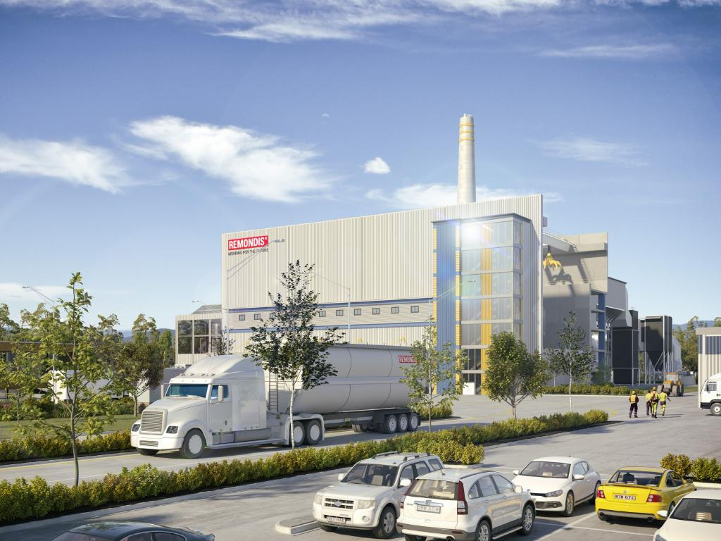 An artist's impression of the $400 million waste-to-energy plant