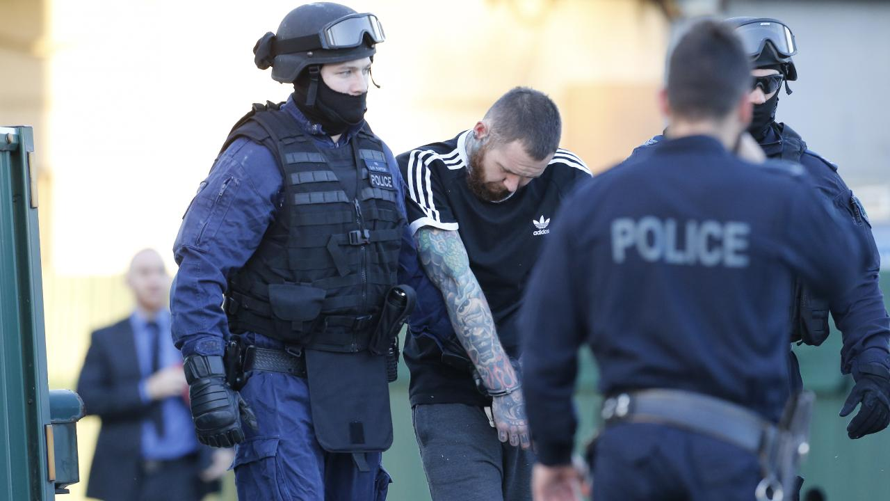 The man is arrested at the Horsley Park clubhouse.