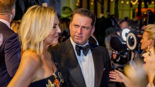 Karl Stefanovic with Georgie Gardner on the red carpet at this year's Logies. Picture: Jerad Williams