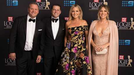 "Say ""cheese"": Today's Tim Gilbert, Karl Stefanovic, Georgie Gardner and Natalia Cooper at this year's Logies. Picture: Supplied."