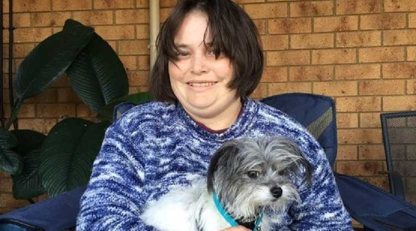 Alyssa Maughan's assistance dog Dempsey has been missing for one week.