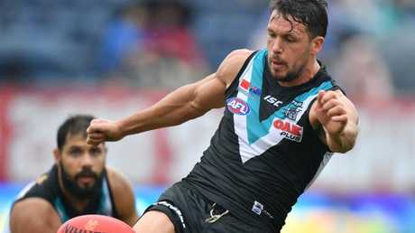 Travis Boak is unstoppable in China. Picture: AAP Images