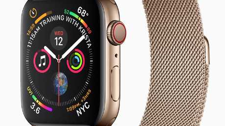 The Apple Watch Series 4, adds extra watchfaces, a larger screen, and comes in gold.